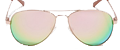 GUESS Metal Mirrored Aviator Sunglasses rose gold