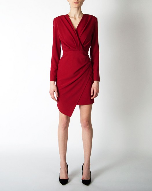 Rochie cocktail bordo