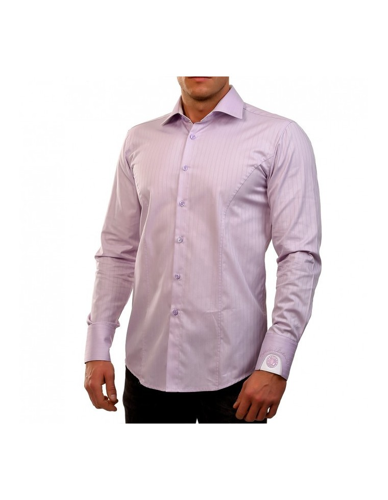 Camasa Purple Striped Clock shirt