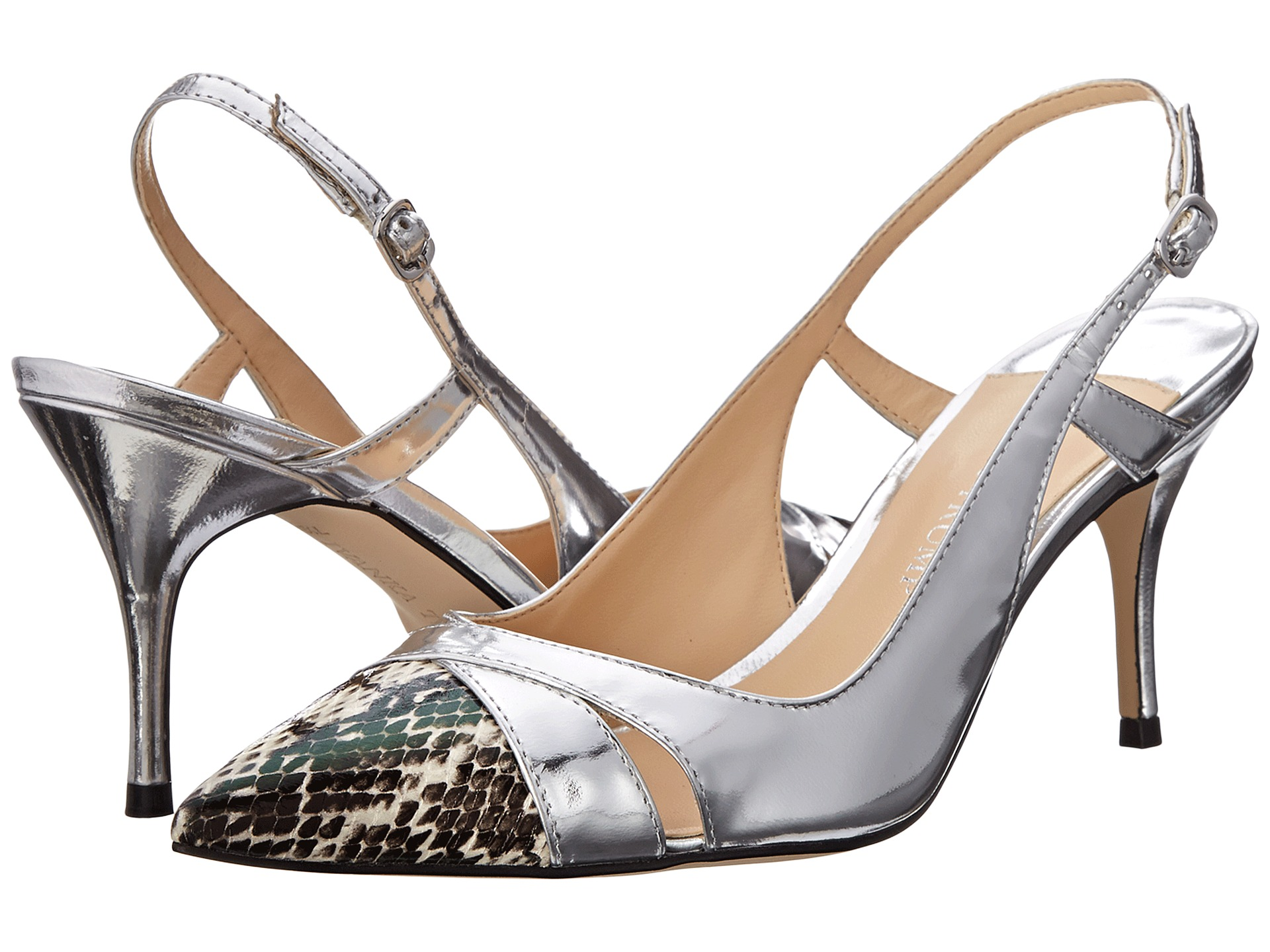 Ivanka Trump Billa Silver/Black/White Snake