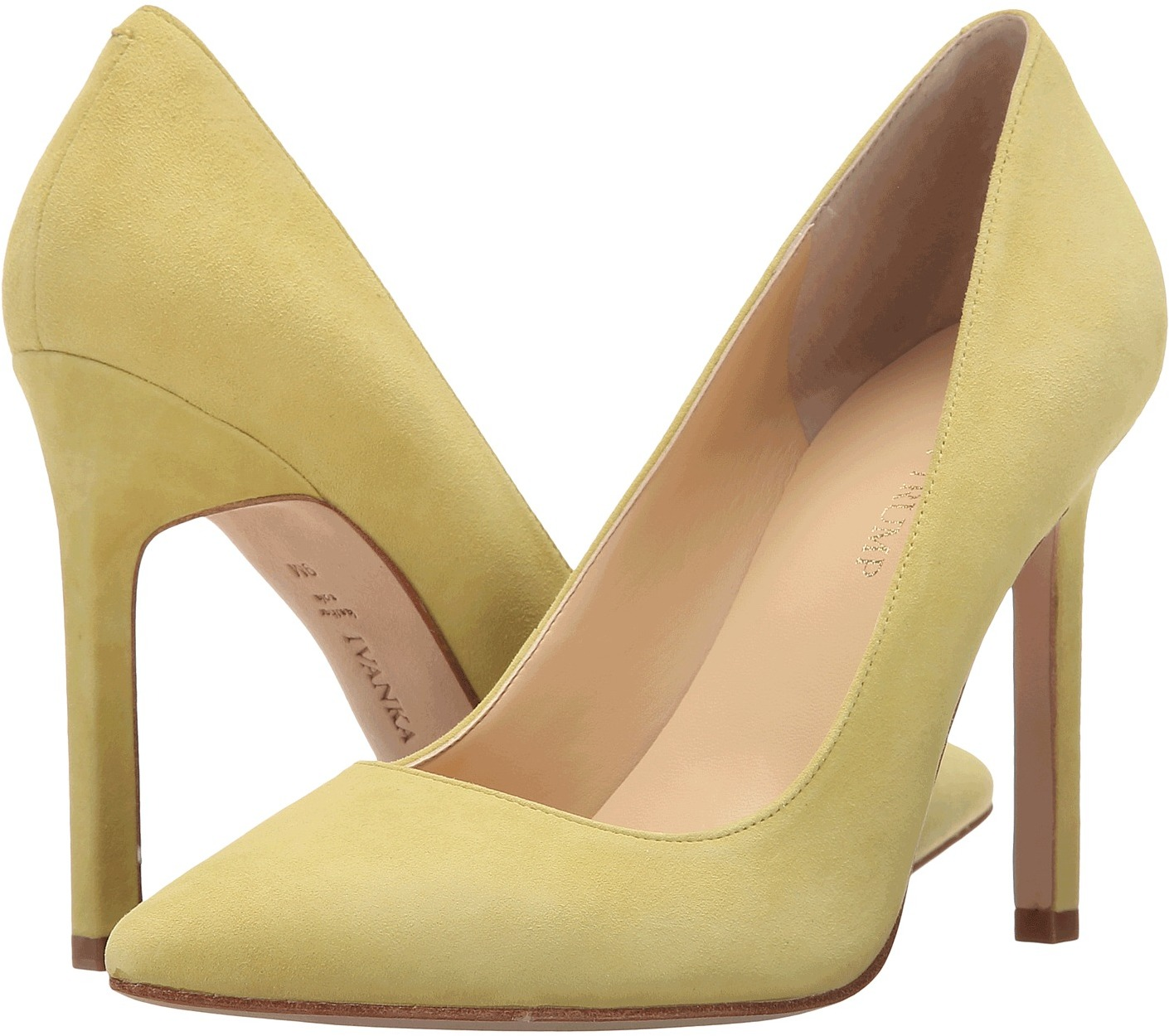 Ivanka Trump Carra Rich Yellow Suede