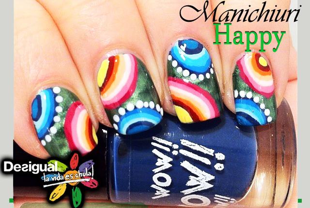 Manichiuri Happy inspirate de culorile Desigual