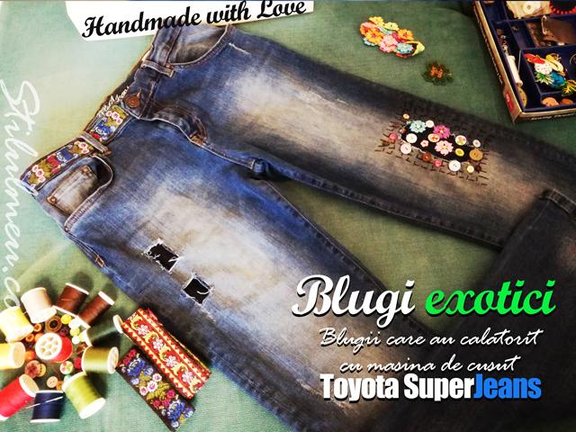 Blugii exotici au calatorit cu masina de cusut Toyota SuperJeans si s-au intors alti blugi