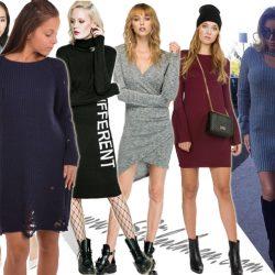 Top modele de rochii pulover trendy online si 3 motive sa le imbracam
