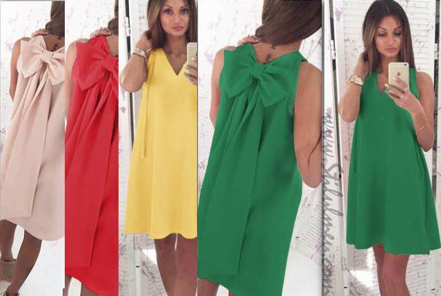 Iti place lejera, sexy si libera? Alege neaparat o rochie de ocazie cu fundita in culori fresh...