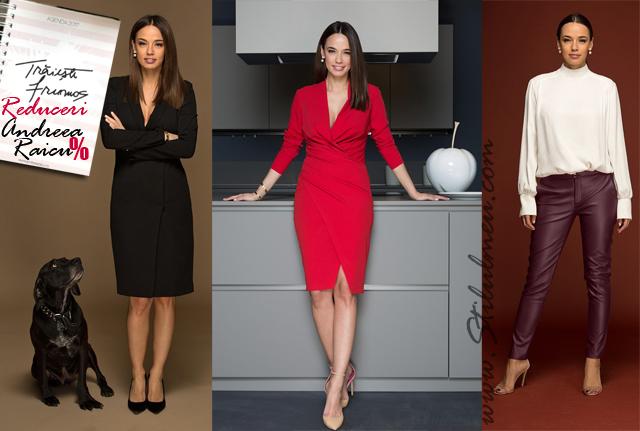 Camasa cocktail, rochie sacou, pantaloni piele Andreea Raicu, piese de rezistenta!