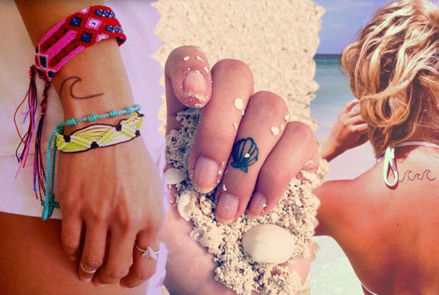 Iubesti vara si mai ales marea? Alege modele de tatuaje mici cu tematica de vara
