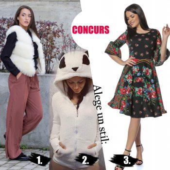 Alege-ti stilul si castiga o vesta de blana, un hanorac pufos sau o rochie gipsy!