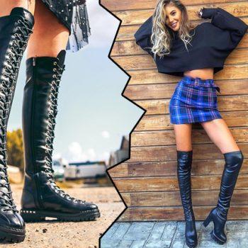 Ce fel de cizme de dama lungi peste genunchi purtam si anul acesta?