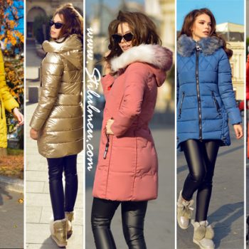 Geci de iarna lungi cu blanita sau fara, imbraca-le si uita de frig!