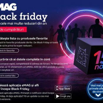 Numaratoarea inversa de Black Friday a inceput: eMAG dezvaluie 10 produse aflate in oferta