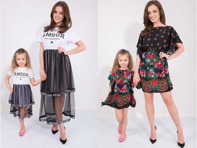 Asa mama, asa fiica, doua adorabile imbracate identic!