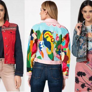 Modele de jachete, sacouri si geci Desigual in culori care infloresc