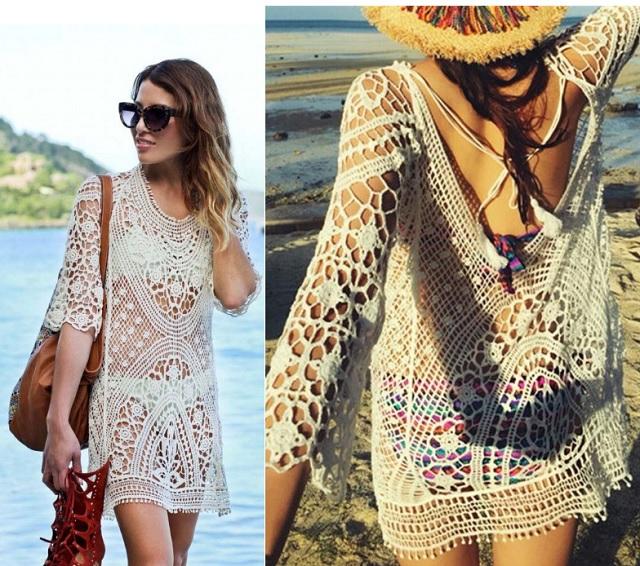 Modele stylish de rochii de plaja ... din voal sau din dantela, ce zici?