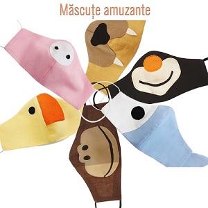 Masti de protectie copii cu botic si buzunar pentru filtru