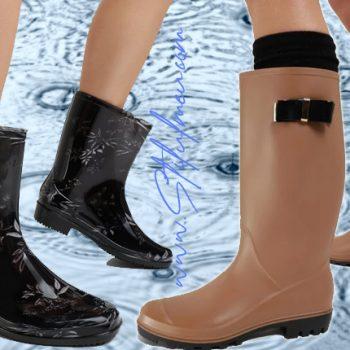 Cu cizme de cauciuc ploaia devine o joaca de copil!