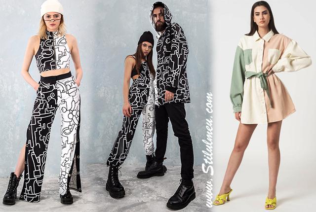 Alege haine in doua culori, asimetria cromatica in tendinte anul acesta