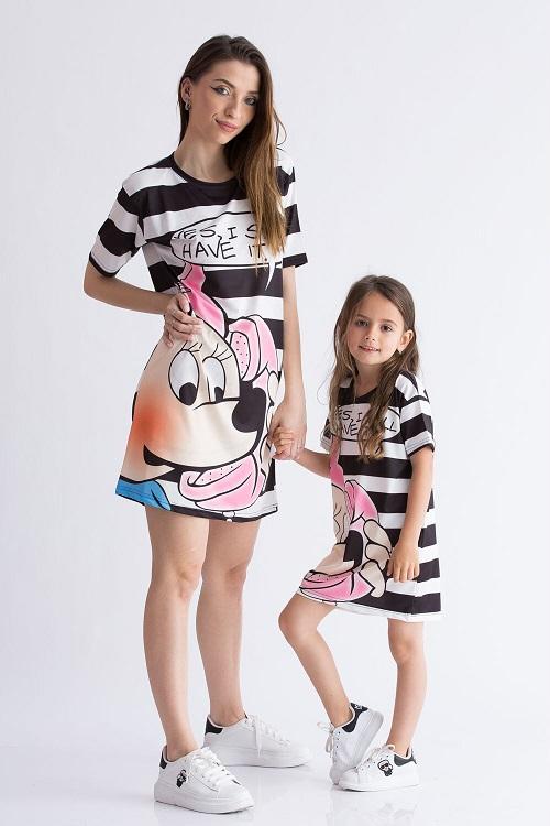 Set 2 rochii de vara sport mama-fiica Minnie 2