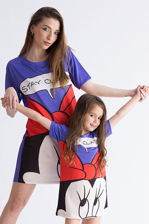 Set 2 rochii de vara sport mama-fiica cu Minnie