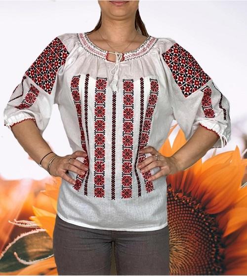 Ie traditionala cu motive floarea soarelui Ioana