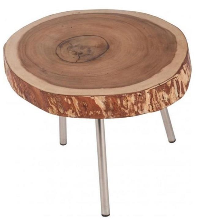%HappyHome! Masuta cafea din lemn felie trunchi de copac 1625115