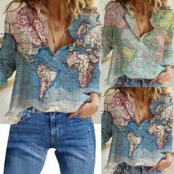 Poarta haine cu design harta, ia intreaga lume cu tine peste tot!