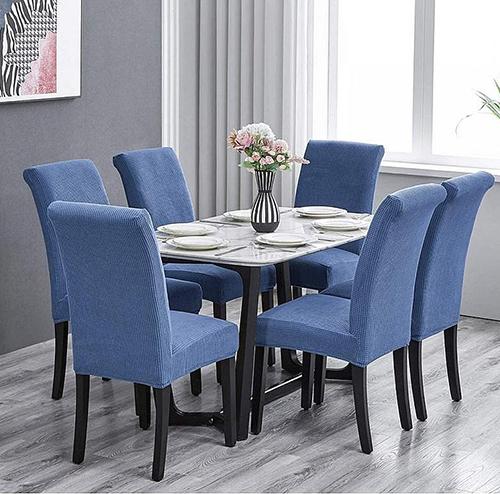 Set huse elastice 6 scaune COD HS02 Albastre